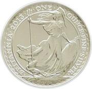 2 Pounds - Elizabeth II (4th portrait; 1 oz Fine Silver (.999)) -  reverse
