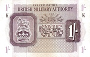 1 Shilling - British Military Authority – obverse