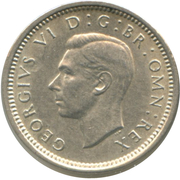3 Pence - George VI (incl. Colonial) -  obverse