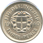 3 Pence - George VI (incl. Colonial) -  reverse