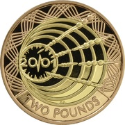 2 Pounds - Elizabeth II (Marconi Telegraph; Gold Proof) -  reverse