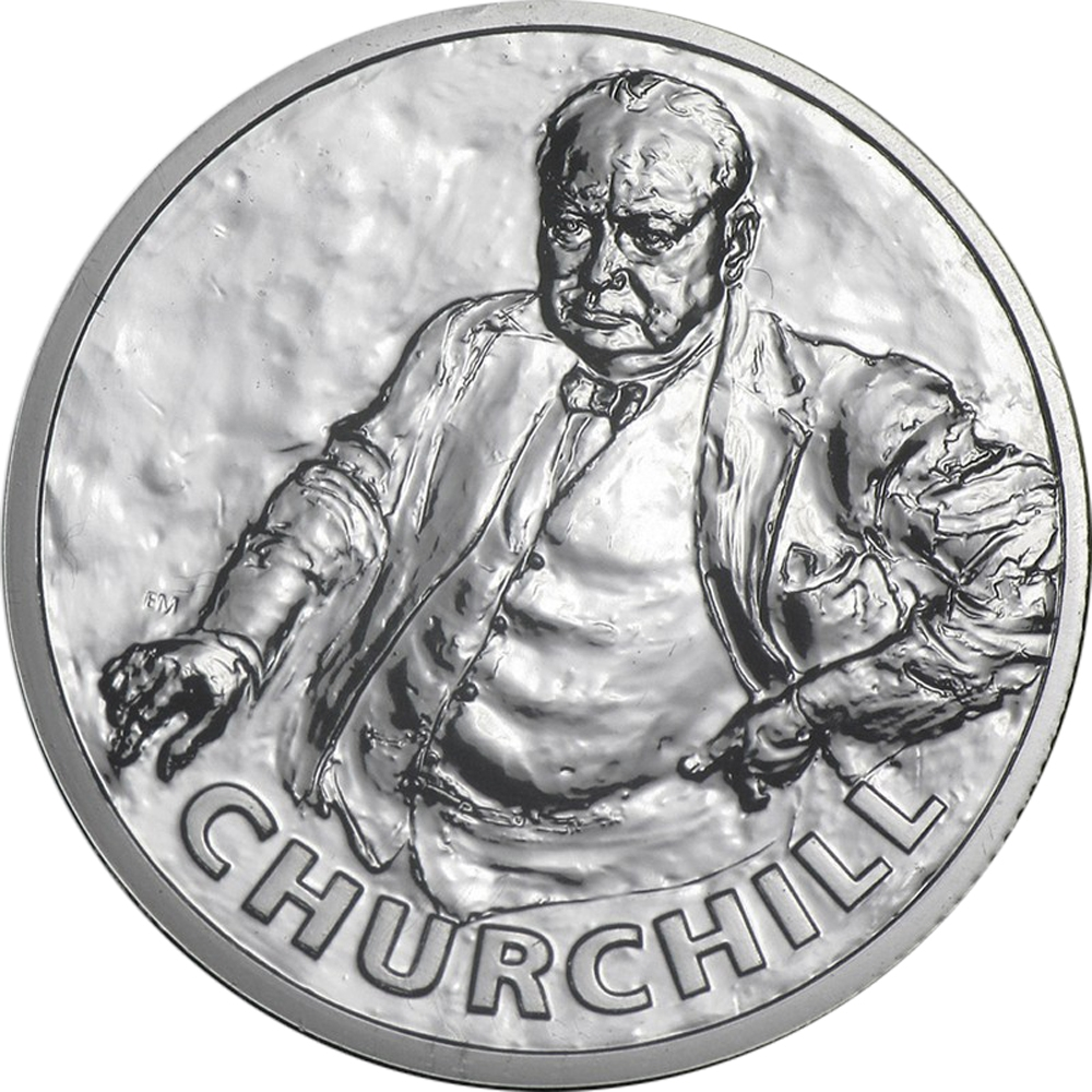 2015 ~ £20 GREAT BRITAIN ~ .999  FINE SILVER ~ SIR WINSTON CHURCHILL ~GEM~$88.88