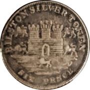 6 Pence (Staffordshire - Bilston / Rushbury & Woolley) – obverse