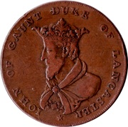 ½ Penny (Lancashire - Lancaster / John of Gaunt) -  obverse