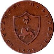 ½ Penny (Lancashire - Lancaster / John of Gaunt) -  reverse
