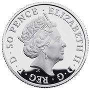 50 Pence - Elizabeth II (5th portrait; 1/4 oz Fine Silver) – obverse