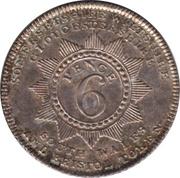 6 Pence (Somersetshire - Bristol / W. Sheppard) – reverse