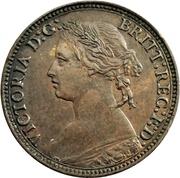 1 Farthing - Victoria (2nd portrait; 2nd type) – obverse