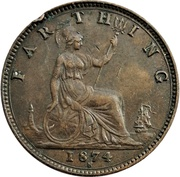 1 Farthing - Victoria (2nd portrait; 2nd type) – reverse