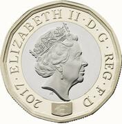 1 Pound - Elizabeth II (5th portrait; Nations of the Crown) -  obverse