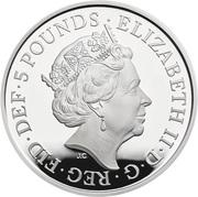 5 Pounds - Elizabeth II (World War II; Silver Piedfort) -  obverse