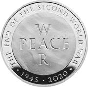 5 Pounds - Elizabeth II (World War II; Silver Piedfort) -  reverse