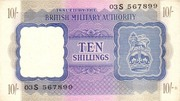 10 Shillings - British Military Authority – obverse