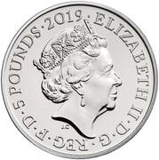 5 Pounds - Elizabeth II (5th portrait; Ceremony of the Keys) -  obverse