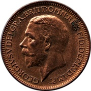 1 Farthing - George V (modified effigy) – obverse