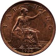 1 Farthing - George V (modified effigy) – reverse