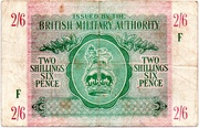 2 Shillings 6 Pence - British Military Authority – obverse