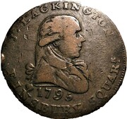 ½ Penny (Middlesex - Lackington's) – obverse