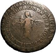 ½ Penny (Middlesex - Lackington's) – reverse