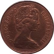 1 New Penny - Elizabeth II (2nd portrait) -  obverse