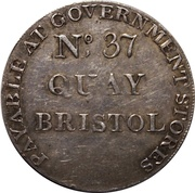 1 Shilling (Somersetshire - Bristol Quay / Army &c) – reverse
