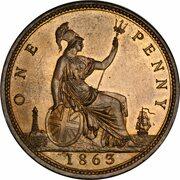 1 Penny - Victoria (2nd portrait) -  reverse