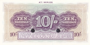 10 Shillings - British Armed Forces (4th Series) – reverse