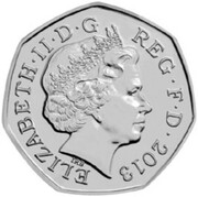 50 Pence - Elizabeth II (4th portrait; Christopher Ironside) -  obverse