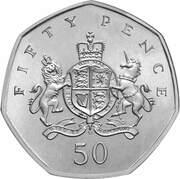 50 Pence - Elizabeth II (4th portrait; Christopher Ironside) -  reverse