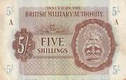 5 Shillings - British Military Authority – obverse