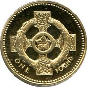 1 Pound - Elizabeth II (4th portrait; Celtic Cross) -  reverse