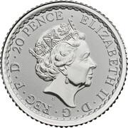 20 Pence - Elizabeth II (5th portrait; 1/10 oz Fine Silver) – obverse