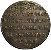 ½ Penny (Middlesex - Hatfield's) – reverse