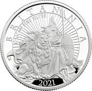 1 Pound - Elizabeth II (5th portrait; 1/2 oz Fine Silver) – reverse
