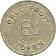 2½ New Pence / 6 Pence - Bell-Fruit Token (Decimal coinage) – reverse