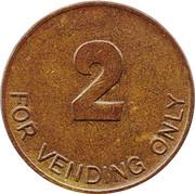 2 Pence (Vending Token) – reverse