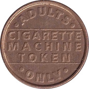Vending Machine Token - Cigarette Machine Token – obverse