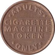 Vending Machine Token - Cigarette Machine Token – reverse