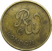 Vending Token - R&W London – obverse