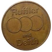 Vending Token - Ruffler and Deith – obverse