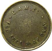 Game Token - GAM & Co. (Glasgow, Scotland; 22.5 mm) – obverse