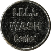Car Wash Token - S.E.L.A. Wash Center – obverse