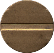 Blank Token (with 2/1 grooves; 27 mm) – reverse