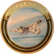 Token - 100 Years of Flight (#08a - Avro Vulcan) -  obverse