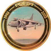 Token - 100 Years of Flight (#06b - BAE Systems Harrier) -  obverse
