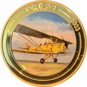 Token - 100 Years of Flight (#05a - de Havilland DH.82 Tiger Moth) -  obverse