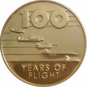 Token - 100 Years of Flight (#05a - de Havilland DH.82 Tiger Moth) -  reverse