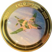 Token - 100 Years of Flight (#02b - McDonnell Douglas F-4 Phantom) -  obverse