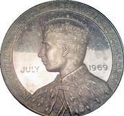 Medallion - Investiture of Prince Charles – obverse