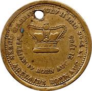 Medallion - William IV & Queen Adelaide  – reverse